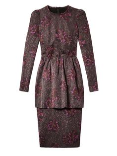 Fab at Every Age - The New Cocktail Hour - 60s: Wine-inflected hues. Burberry Prorsum dress.