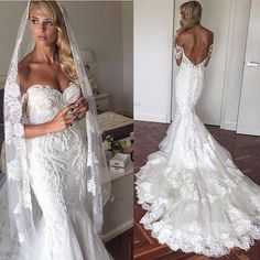 Sweetheart Bridal Dress with Open Back,Mermaid Wedding Dress,Beautiful Prom Dress,JD 272