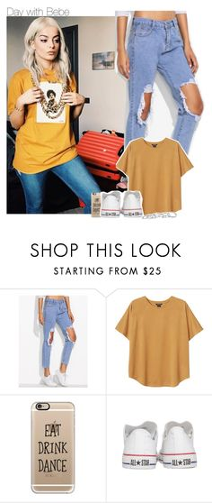 """""""Day with Bebe"""" by xcuteniallx ❤ liked on Polyvore featuring Monki, Casetify, Converse and Kendra Scott"""
