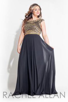 Rachel ALLAN Curves ~ Look bold in this black and gold !