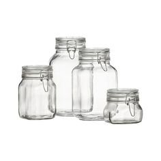 Fido Jar with Clamp Lid from Crate and Barrel. Saved to Kitchen Stuff. Shop more products from Crate and Barrel on Wanelo. Glass Canisters, Kitchen Canisters, Glass Jars, Apothecary Bottles, Kitchenware, Food Storage Containers, Glass Containers, Jar Storage, Storage Ideas