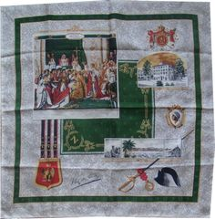 Napoleon Coronation silk scarf