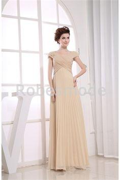 Robe de soirée entrecroisée V col jupe plissée en mousseline de soie