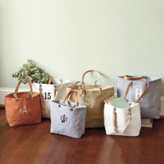 Canvas Tote Bag with Leather Handles  |  Ballard Designs | European-inspired home furnishings
