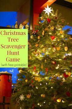 ... Tree Game - Christmas Tree Scavenger Hunt (free printable game) More