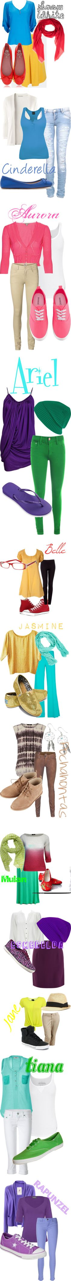 """Teen Disney Princesses"" by loonylunalovegood on Polyvore"