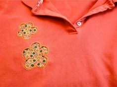 Mending idea for tshirts, polos, etc. with holes in them