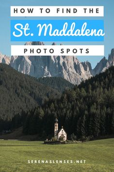 How to Find the Photo Spot in Santa Maddalena and St. Johann Church in the Dolomites Italy Travel Tips, Europe Travel Guide, Travel Guides, Travel Destinations, Italy Vacation, Travel Photography, Photography Ideas, Travel Around The World, Trip Planning