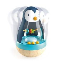 Djeco - Culbuto Roly pingui - OK Toothbrush Holder, Bunt, Toys, Djeco, Home Decor, Lady, Google, Baby Store, Fun Games