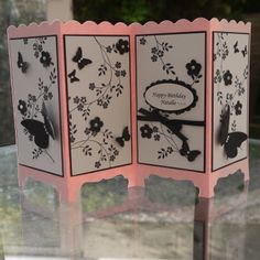 Personalised Screen Divider Card, Stampin Up, Hopeful Thoughts, Embosslits, Decorative Labels Punch