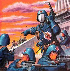 browsethestacks: GI Joe: A Real American Hero - Operation Star Fight (Marvel Books) Art by Earl Norem Thundercats, Anubis, Marvel Comics, War Comics, Cobra Art, Nostalgia, 70s Sci Fi Art, Nerd, Cobra Commander