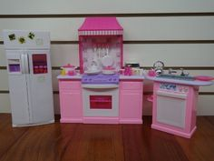 barbie size dollhouse furniture kitchen set gloria httpwwwamazon amazoncom barbie size dollhouse