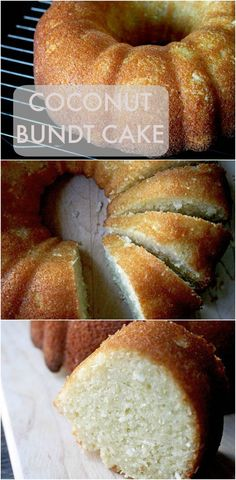 This coconut bundt cake is super moist and fluffy, with a strong coconut flavor.