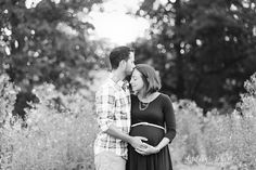 Maternity kissing head  Ashleigh Whitt Photography Cleveland Ohio Maternity Photographer