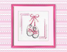 Little girl shoes Cross Stitch Pattern PDF Baby by TimeForStitch