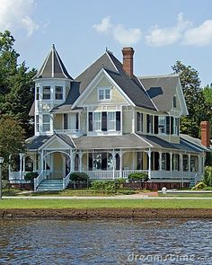 This grand Victorian has Queen Anne features to it's architectural style (turret)
