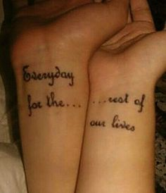 Getting matching tattoos for couples is a big decision, and a permanent one. Here are some ideas to get you started with couples' matching tattoos! Bff Tattoos, Tribal Tattoos, Tattoos For Lovers, Neue Tattoos, Friend Tattoos, Future Tattoos, Body Art Tattoos, Tattoo Quotes, Tatoos