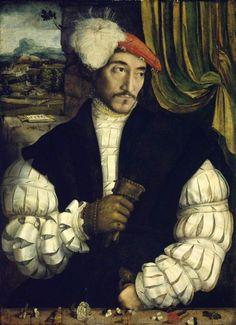 """history-of-fashion:  """"1533 Austrian School or German (Bavarian) School (possibly) - Portrait of a Man  """""""