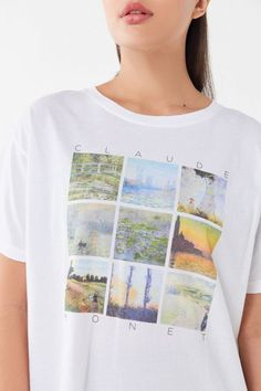 cb2619727 Future State Monet Collage Tee | Urban Outfitters Tees For Women, French  Style, Monet