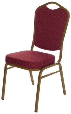 Burgundy banqueting chairs used by hotels and venues