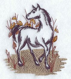 Brushstroke Horse design (D8374) from www.Emblibrary.com