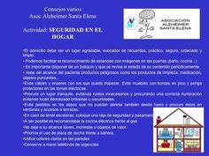 """Asociación Alzheimer """"Santa Elena"""" de Sevilla: Recomendaciones de Medidas de seguridad en el Hogar por el alzhéimer"""