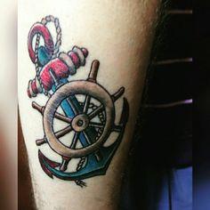 #imperiumartis #imperium #artis #tattoo #tattoostudio #ink #tatuaggio #Roma #instatattoo #instatattoos #tattooart #ancora #timone #corda #anchor #sail #sailing #ship #wheel #sea #oldschool #oldschooltattoo