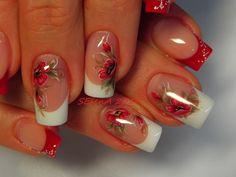 French Tip Nail Designs, Fall Nail Art Designs, Colorful Nail Designs, Nail Polish Designs, Acrylic Nail Designs, Hot Nails, Hair And Nails, Witch Nails, Nail Salon Design