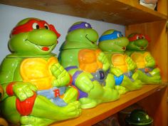 Teenage Mutant Ninja Turtles Cookie Jars...not sure why the link is an article on a drug bust but the cookie jars are cute!!