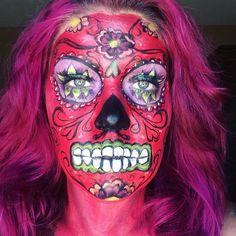 Dia de Los Muertos sugar skull. Find me on IG-Kim Whitesel