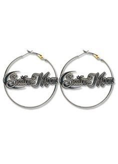 Sailor Moon Earrings: Logo in Hoop  http://www.rightstuf.com/catalog/browse/link/t=item,c=right-stuf,v=right-stuf,i=ge80527,a=lyne-n-lyza