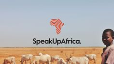 Speak Up Africa by DIA , via Behance. I love this identity; a really incredibly use of gestalt