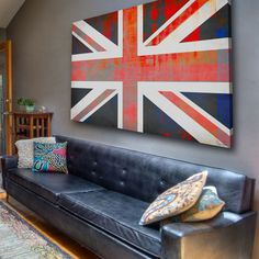Union Jack Canvas Art - I know an artist that may want to create this canvas.  I like the discolorations