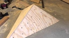 How to build a volume to ad interesting surfaces and variety to a home climbing wall.
