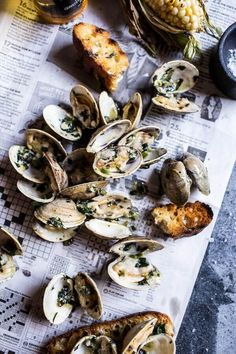 Grilled Clams with Charred Jalapeño Basil Butter. recipe: Try this Grilled Clams with Charred Jalapeño Basil Butter. recipe, or contribute your own. Clam Recipes, Fish Recipes, Seafood Recipes, Asian Recipes, Seafood Dishes, Fish And Seafood, Seafood Bbq, Grilling Recipes, Cooking Recipes