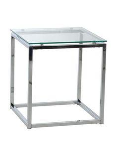 Gardner End Table GLASS TOP/CHROME - Apt2B