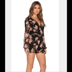 Band of Gypsies Floral Romper Super cute but slightly too big on me. Tag says small but fits more like a medium. Never worn. Band of Gypsies Other