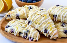 Up your breakfast game with an easy recipe for the best light and tender lemon blueberry scones with citrus glaze.