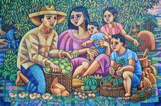 Harvest Time, by Ninoy Lumboy, a Filipino artist