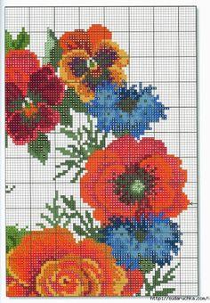 Página 61 (485x700, 348Kb) Cornflower, pansy, poppy wreath