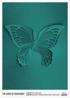 Art for a film called The Duke of Burgundy on Behance. Eiko Ojala, artist. Do you see the faces in the butterfly wings?