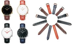 Fashion watch with exchangeable straps, individualize your personal lifestyle.