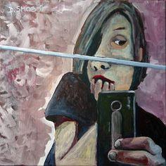 selfie, acrylic on canvas 50x50, 2014, more on my website: www.smogor.tv
