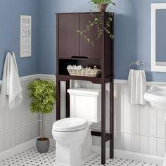 Rebrilliant Arielle W x 67 H Over the Toilet Storage Toilet Storage, Bathroom Style, Storage Design, Easy Bathroom Updates, Best Bathroom Designs, Cabinet Shelving, Toilet, Storage, Bathroom Design