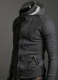 Korean Style Men's Hooded Zipper Cotton Jacket