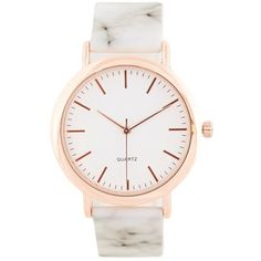 BKE Marble Watch (79 PLN) ❤ liked on Polyvore featuring jewelry, watches, buckle watches, bke jewelry, stainless steel jewelry, stainless steel jewellery and stainless steel watches