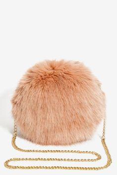 Circle Fur Crossbody Bag
