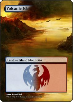 Magic The Gathering Volcanic Island Proxy