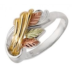 Black Hills Gold Sterling Silver and 10K Gold Ring