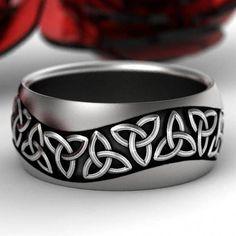 Celtic Wedding Rings, Pendants & Custom Jewelry Design by CelticEternity Celtic Wedding Rings, Celtic Rings, Wedding Bands, Arte Viking, Trinity Symbol, Trinity Knot, Custom Jewelry, Unique Jewelry, Bridal Jewelry Sets